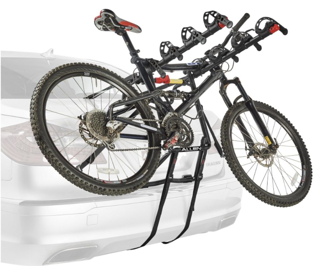 Premier bike rack with bike on it