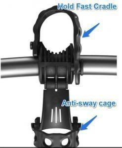 anti-sway cage and hold fast cradle