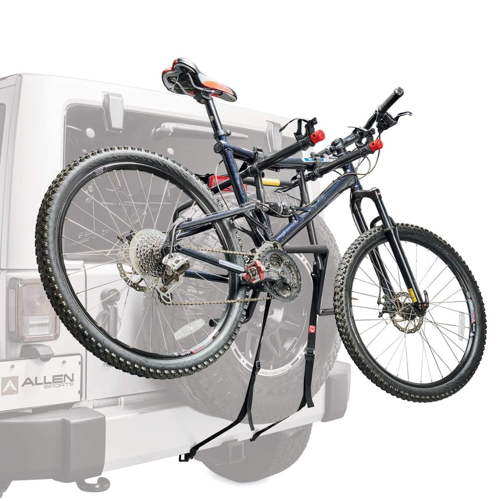 Allen Sports Deluxe Two Bike Spare Tire Mounted Rack